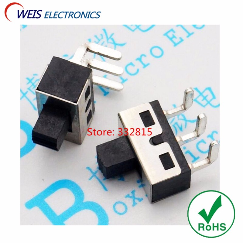 100PCS SS12D11 SS12D06 Toggle Switch bent feet 90degree 3pin 3A 250V power switches Free shipping