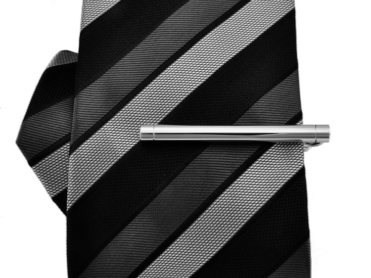 High quality electroplate + polished tie clips with Austria crystal + free shipping !!! High quality metal tie clips