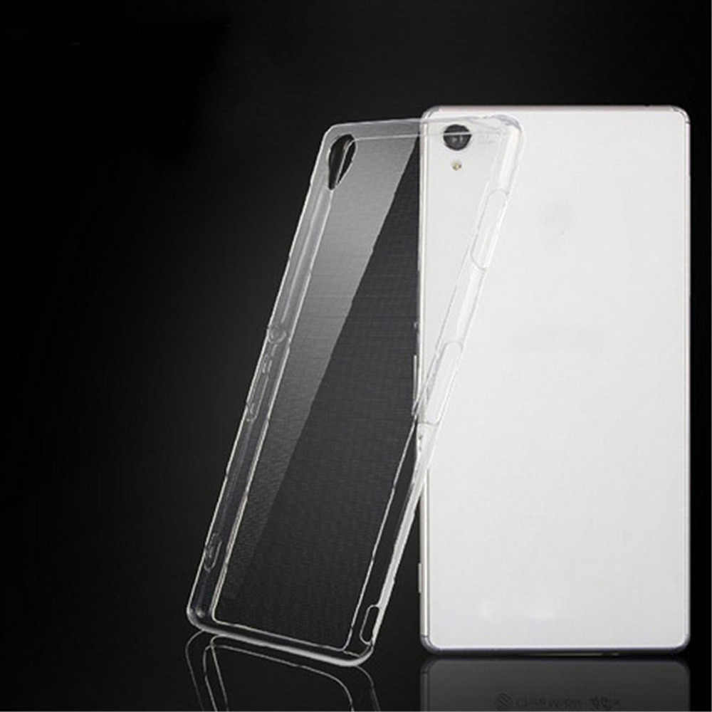 Case For Sony Xperia Z5/Z4/Z3/Z2/Z1/Compact/Premium  0.33mm Silicone Soft TPU Transparent rubber Clear Phone Cover kimTHmall