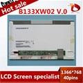 Gread a + 13.3 ''led b133xw02 v.0 painel de led para hp cq32 cq35 cq36 cq325 para lenovo z360 g360 g360a z360g laptop