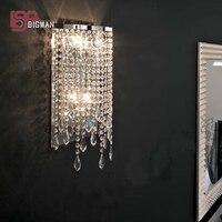 Оптовая продажа Современные хрустальные бра блеск de cristal свет для гостиной спальня лампы