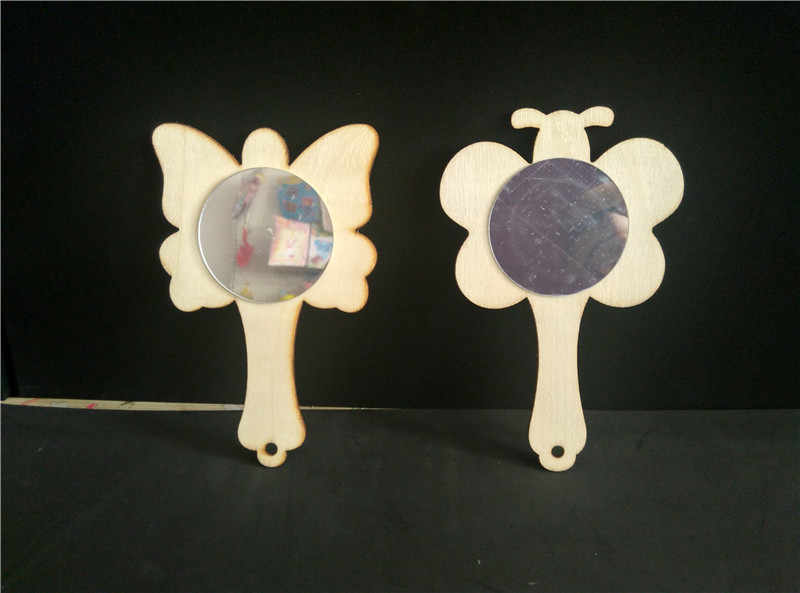 Happyxuan 5 шт./лот дерево белая плесень зеркало diy-раскраска картина Детская ручной работы Книги по искусству Craft Материал детский сад Игрушечные лошадки дети