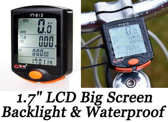 LCD Digital Cycle Computer Bicycle Bike Backlight Speedometer Odometer