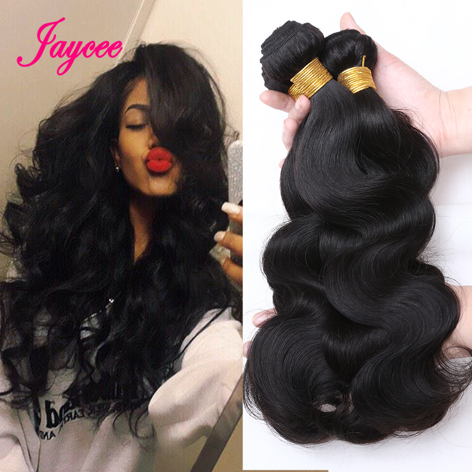 Jaycee Hair Hair-Weave-Bundles Human-Hair-Extensions Body-Wave Brazilian Remy 8-26-Inches