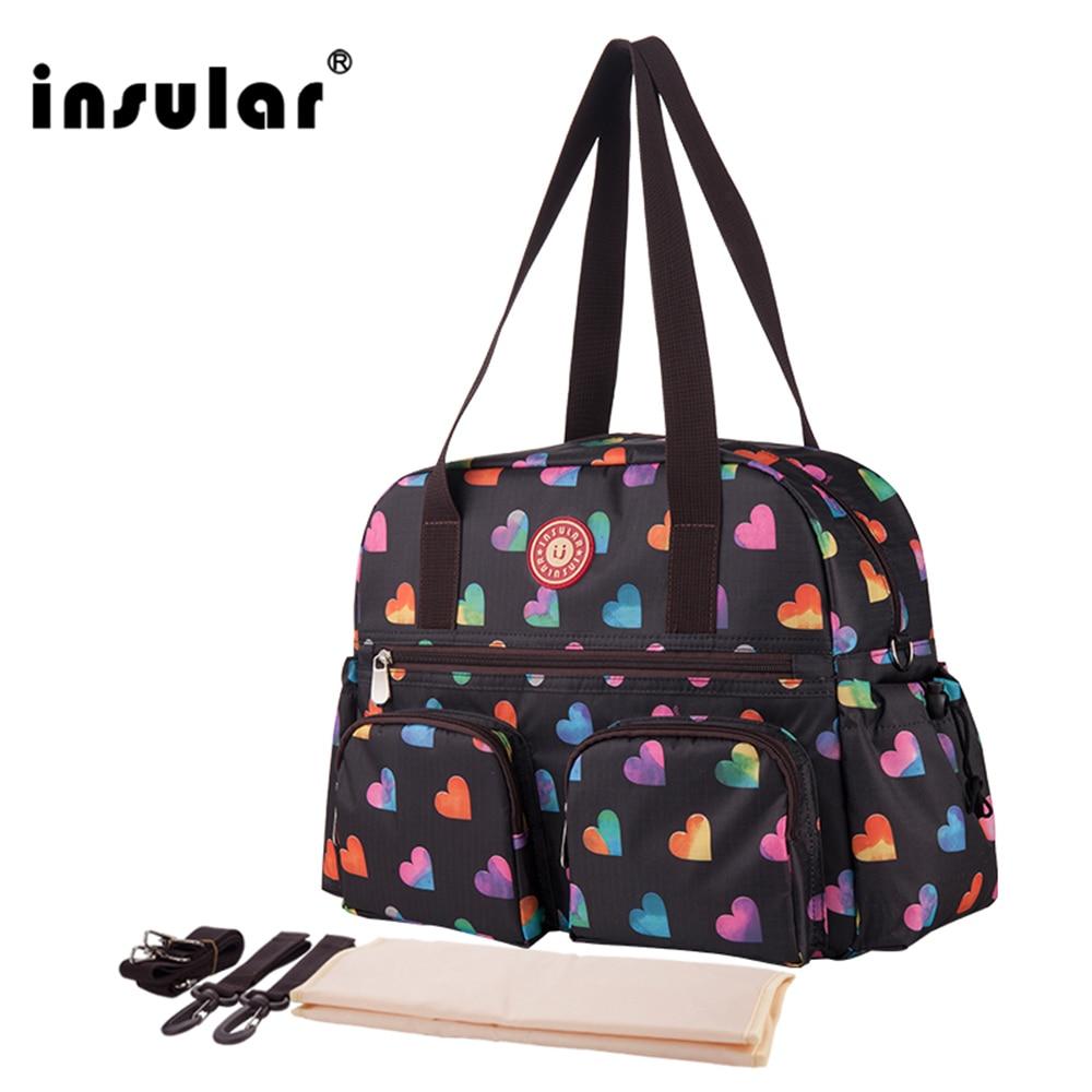 W nowym stylu Insular z nadrukiem modna torba na pieluchy dla - Pieluchy i Trenowanie toalety - Zdjęcie 5