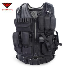 2019 Police Tactical Vest Outdoor Camouflage Military Body Armor Sports Wear Hunting Vest Army Swat Molle Vest Black(China)
