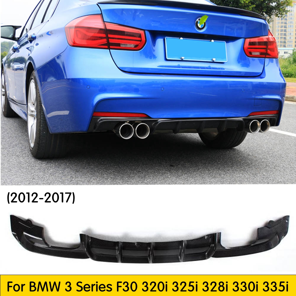 Unpainted 3-Series F30 F31 12-17 M Sport Performance Rear PP Diffuser Single