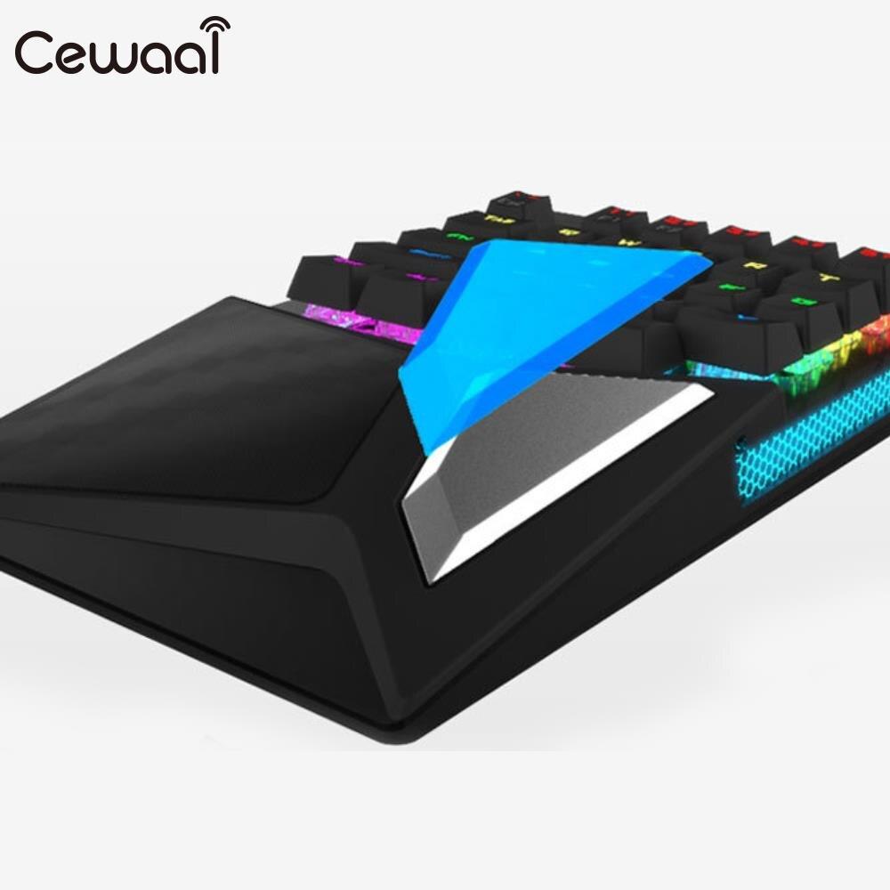 Cewaal LED rétro-éclairage 28 touches ordinateur de jeu tapis de souris tablette clavier de jeu Portable de bureau clavier de jeu filaire