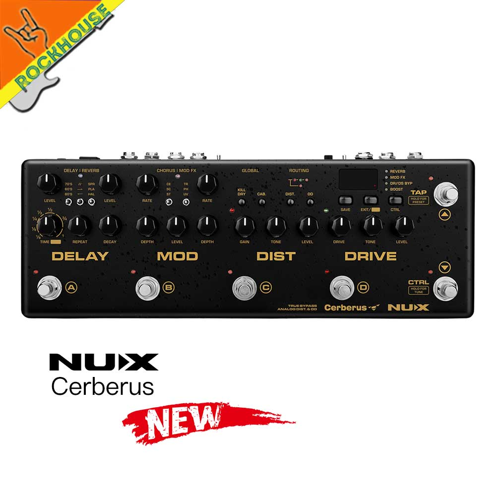 2017 new nux cerberus multi function guitar effects pedal integrated analog overdrive distortion. Black Bedroom Furniture Sets. Home Design Ideas