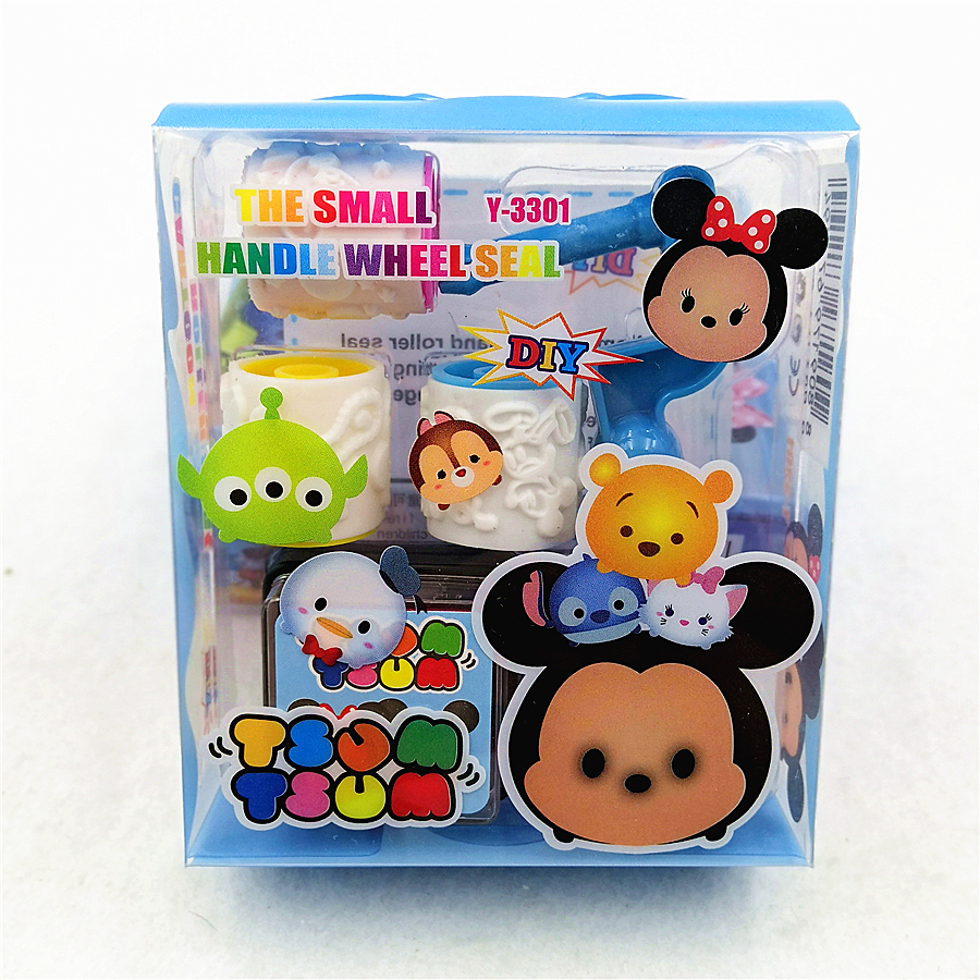 Kids Birthday Party Supplies Mickey Mouse Rubber Stamp DIY Scrapbooking Decorative Cartoon Baby Shower Seal Stamper Favors