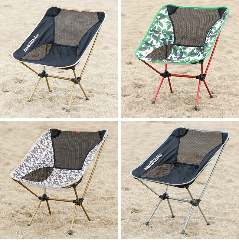 Wholesale aviation aluminum alloy Comfortable Folding Outdoor chair breathable Moon Chair camouflage outdoor comfortable folding fishing chair breathable moon chair leisure chair butterfly chair