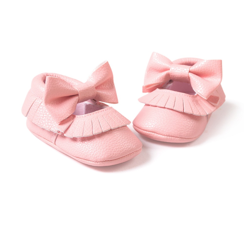 Pink Baby Girls Boys Butterfly Knot Sneakers Shoes Baby First Walkers Newborn Infantil Bebe Shoes By Pu Leather 0~18month.CX17C