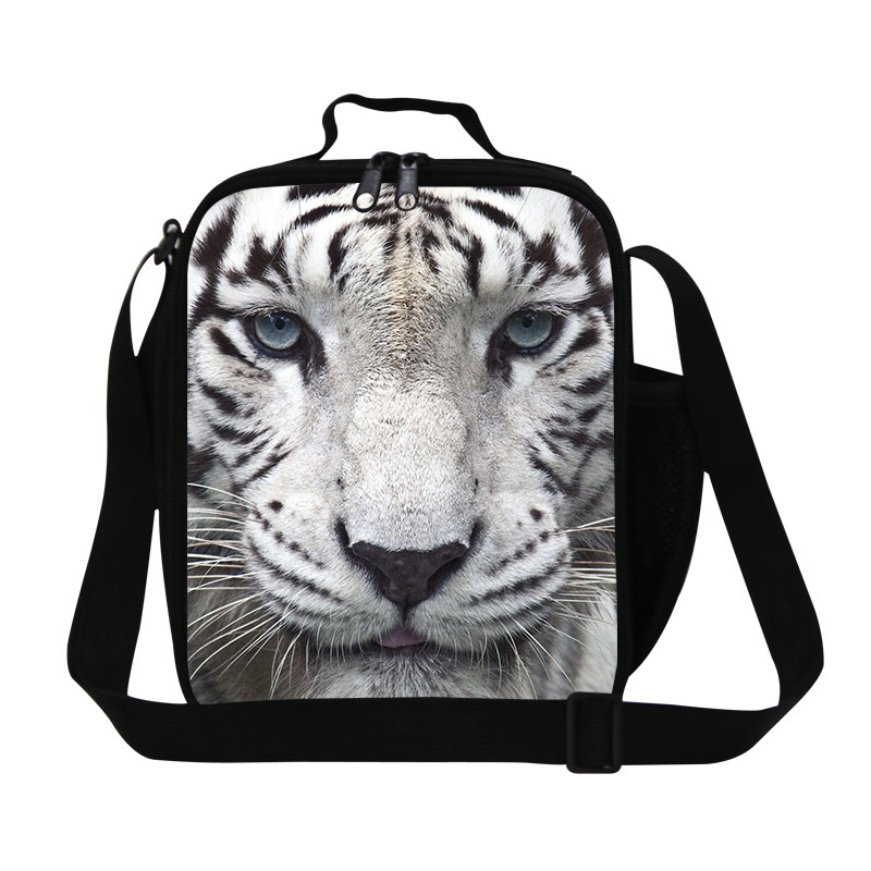 Dispalang 2017 tiger head printing lunch bag for boys,mens healthy Cooler bag for work,cool thermal meal bag lunch box children