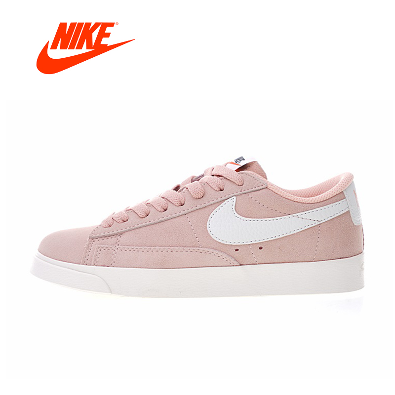 Original New Arrival Authentic Nike Wmns Blazer Low Premium Women's Comfortable Skateboarding Shoes Sport Sneakers AA3962-605 original new arrival nike wmns oceania textile women s skateboarding shoes sneakers