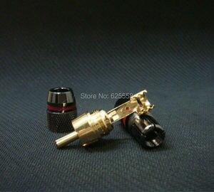 Image 3 - 8x Gold Überzog RCA Stecker Adapter Audio Solder Stecker Schwarz 4 Pairs