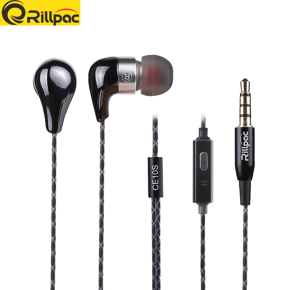 Rillpac CE10S With Mic and Remote Noise Isolating In Ear Hifi Stereo Earphones for all font