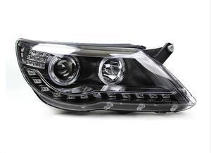 Image 4 - Car Styling for Tiguan Headlight 2009~2012/2013~2015 Tiguan LED Head light LED DRL Bi Xenon Lens Headlight High Low Beam Parking