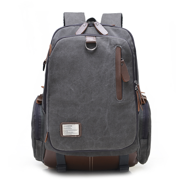 Large Capacity Vintage Canvas Travel Backpack Men Fashion Business Laptop Backpack Computer Bag Casual Rucksack School Bags 1247 large capacity backpack laptop luggage travel school bags unisex men women canvas backpacks high quality casual rucksack purse