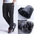 Grandwish invierno fleece pantalones de los hombres más tamaño 3xl de los hombres calientes gruesa pantalones de polar exterior pantalones de lana de los hombres de peso pesado, PA784