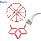 Teeggi 4PCS 3 leaves Blades & Propeller Protective Ring & Motors for Hubsan X4 H502S H502E H502T H507A RC Drone Spare Parts