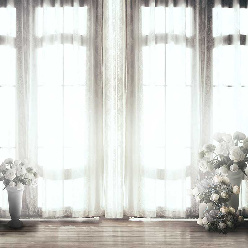 Vinyl Photography Background Computed Printed Vintage Castle Window Wedding Backdrops for Photo Studio CM-6955
