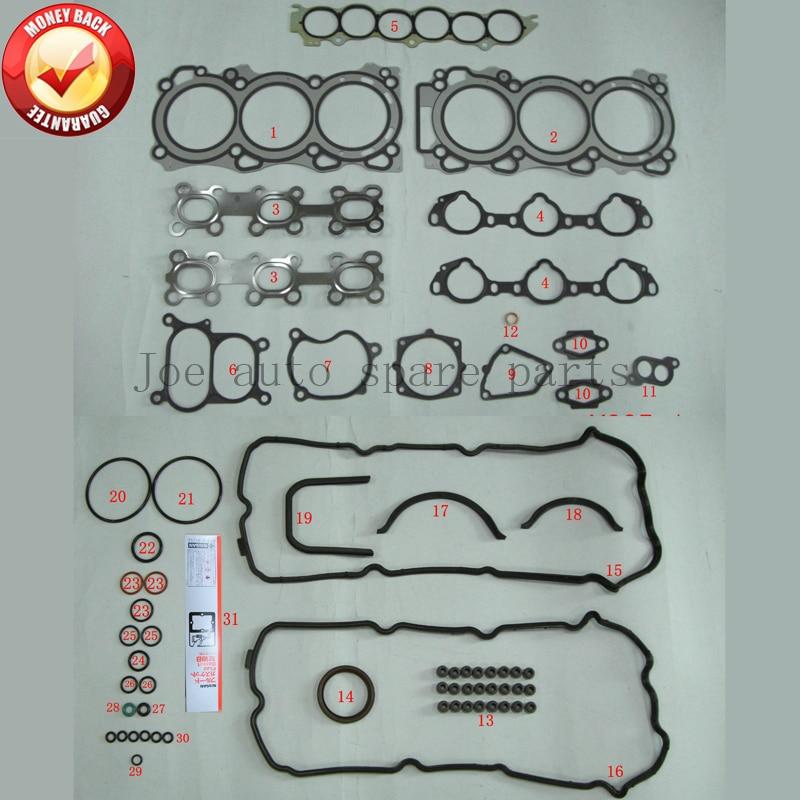 все цены на VQ35DE 3.5L 3498cc Engine complete Full gasket set kit for Nissan/Renault/Infiniti A0101-CA025 A0101CA025 онлайн