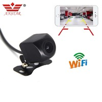 ANSTAR Wifi Rear Camera Waterproof HD Night Vision Car Reverse Camera Rear For IOS and Android Monitor Parking Rear View Camera