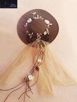 Vintage Wedding Accessories Flowers Tulle Bridal Hat Wedding Party Women Hat