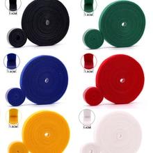 2Meters/lot 15mm Reusable Adhesive Fastener Tape Back to Hooks and Loops Self Cable Ties DIY fastener Magic