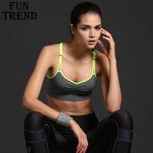 Stretch Sexy Brassiere Sport Fitness Bra Top Shockproof Breathable Yoga Bra Sports Bra For Running Gym Quick Dry Sport Underwear