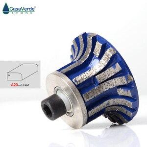 Image 2 - A20 diamant router bit räder mit M10 arbor diamant schleifen räder für granit und marmor