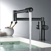 Fashion Europe style total brass black oil brushed kitchen faucet swivel kitchen mixer tap,sink tap,foldable kitchen tap 4 color