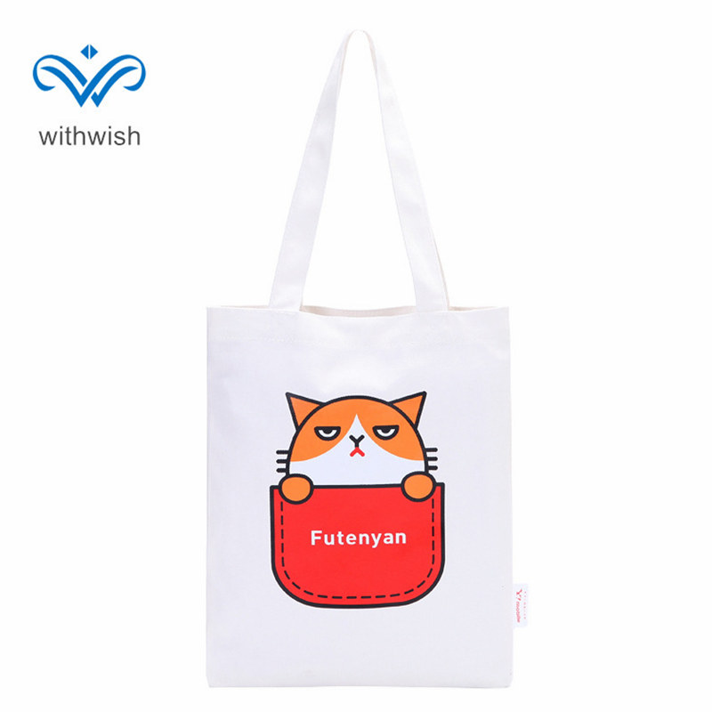 Fashion Cartoon Canvas Shopping Bag Casual Reusable Enviroment Bags Multifunction Single Shoulder Bag Students Book Bags 33x26cm набор фигурок подиум harry collectors enviroment