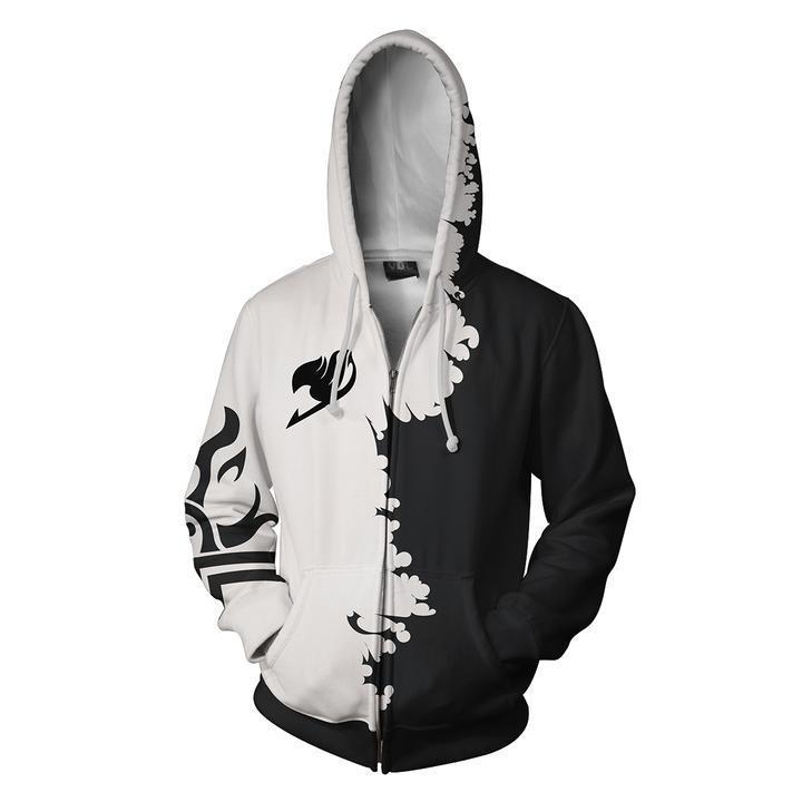 Autumn Winter 3D Print Anime Fairy Tail Cosplay Hoodies Sweatshirts Casual Zipper hooded Jacket clothing