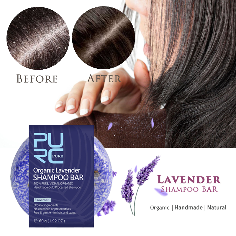 Anti Dandruff Lavender Shampoo Bar Pure Lavender Essential Oil Soap Moisture To Relieve Itching Scalp Fragrance Hair Care