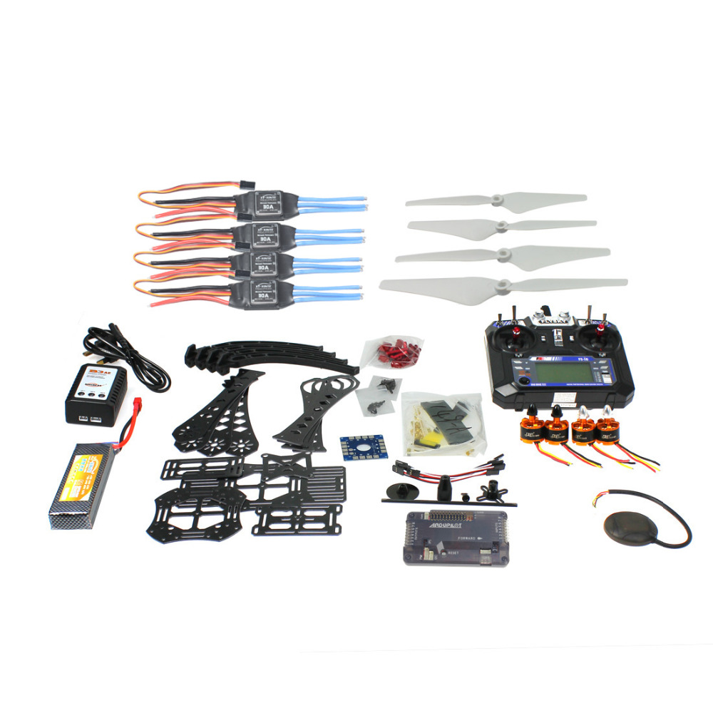 все цены на DIY RC Drone Quadrocopter Full Kit RTF X4M380L Frame Kit APM 2.8 GPS Flysky RX TX Battery Charger 4-axis Aircraft Toy Accessory онлайн