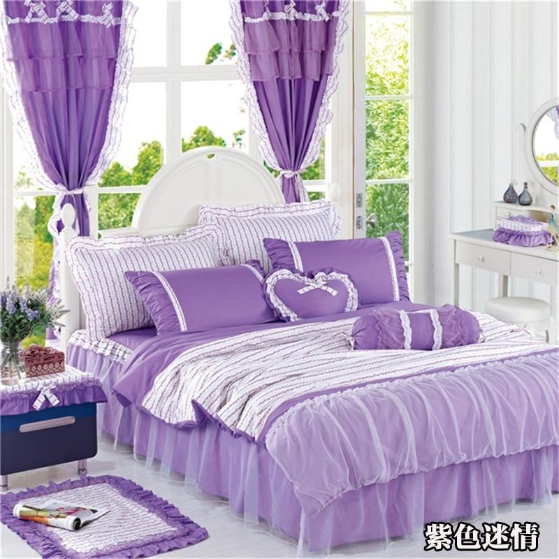 Bedroom Sets For Girls Purple online get cheap purple bedskirt -aliexpress | alibaba group