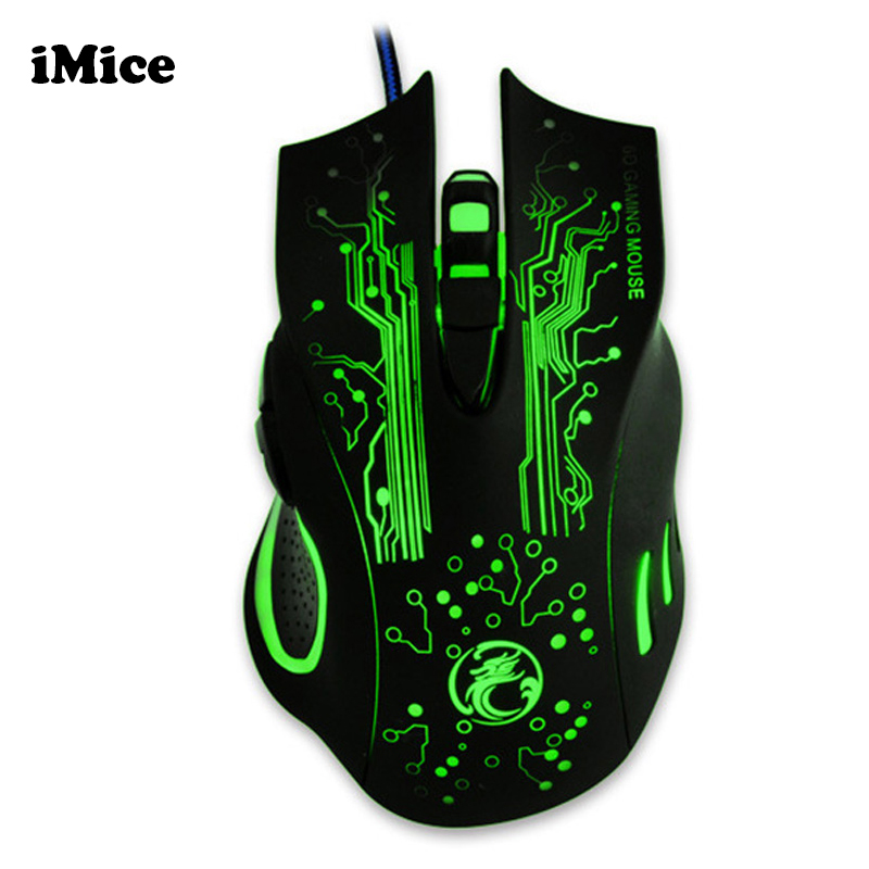2017 New Professional LED Optical USB 6D Wired Computer Game Gaming Mouse Mice for Laptop PC Desktop For Pro Gamer Peripherals