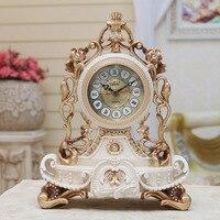 TUDA 2017 Table Clocks Mute Europe Type Restoring Ancient Ways Clock Creative Living Room Desk Clock Fashion Watch Desktop Clock