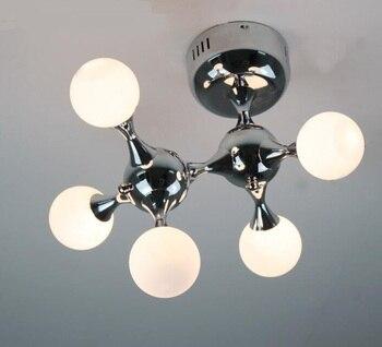 De diseño de moda de ADN 5 cabezas G4 blanco perro máquina luz de techo lámpara de techo bien comedor FG520