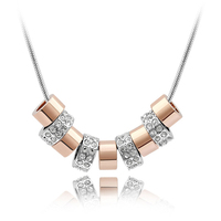 Neuheiten Perlenkette Kleinen Anhänger Dame Schmuck herren Halskette Kette Marke Halskette Österreichischen Kristall Mode Bijoux Geschenke