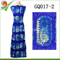Super Quality African George With Sequins 2colors India George 5yards Pc Raw Silk George Fabric For