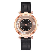 Hot Sale Ladies Watch Women's Casual Leather Crystal Starry Sky Dial Quartz Wrist Watches Women Relogio Feminino Clock Gift цена в Москве и Питере