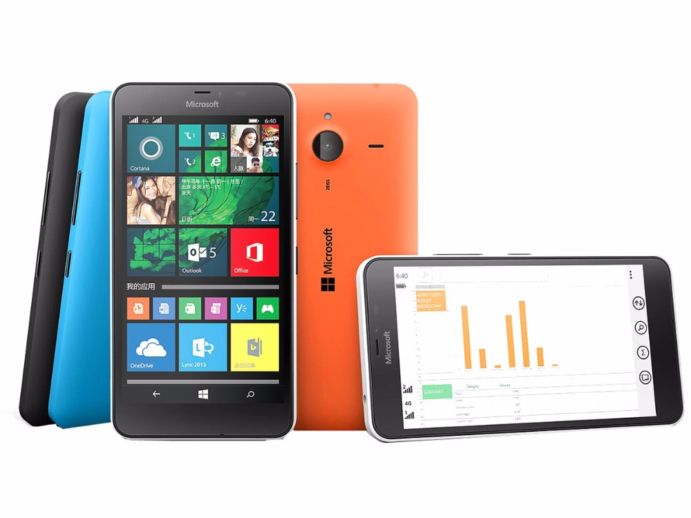 Refurbished Nokia Microsoft Lumia 640XL Quad-core 8GB ROM 1GB RAM 4G WIFI GPS 13MP 1080P smartphone dual sim card white 2