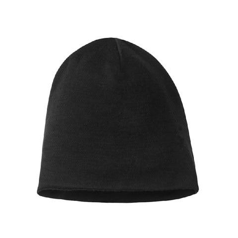 Homme femme 100% super fine Mérinos bonnet en laine chapeau Réversible Formation de course d'hiver thermiques casquette en polaire knit Sport Chaud confortable