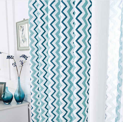 Kitchen Curtains Drapes Modern Elegant Living Room Blue Window - Home Textile - Photo 2
