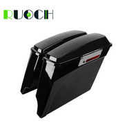 RUOCH Motorcycle Saddlebag Extended Side Bags for Harley Touring Road King Road Glide Electra Street Glide 1993-2013 1998 2002