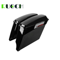RUOCH Motorcycle Saddlebag Extended Side Bags for Harley Touring Road King Road Glide Electra Street Glide 1993 2013 1998 2002