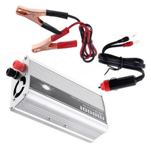 DC 12V to AC 110V 1000W USB Power Inverter Modified Sine Wave Converter with Car Charger & A Pair Alligator Clip Transformer