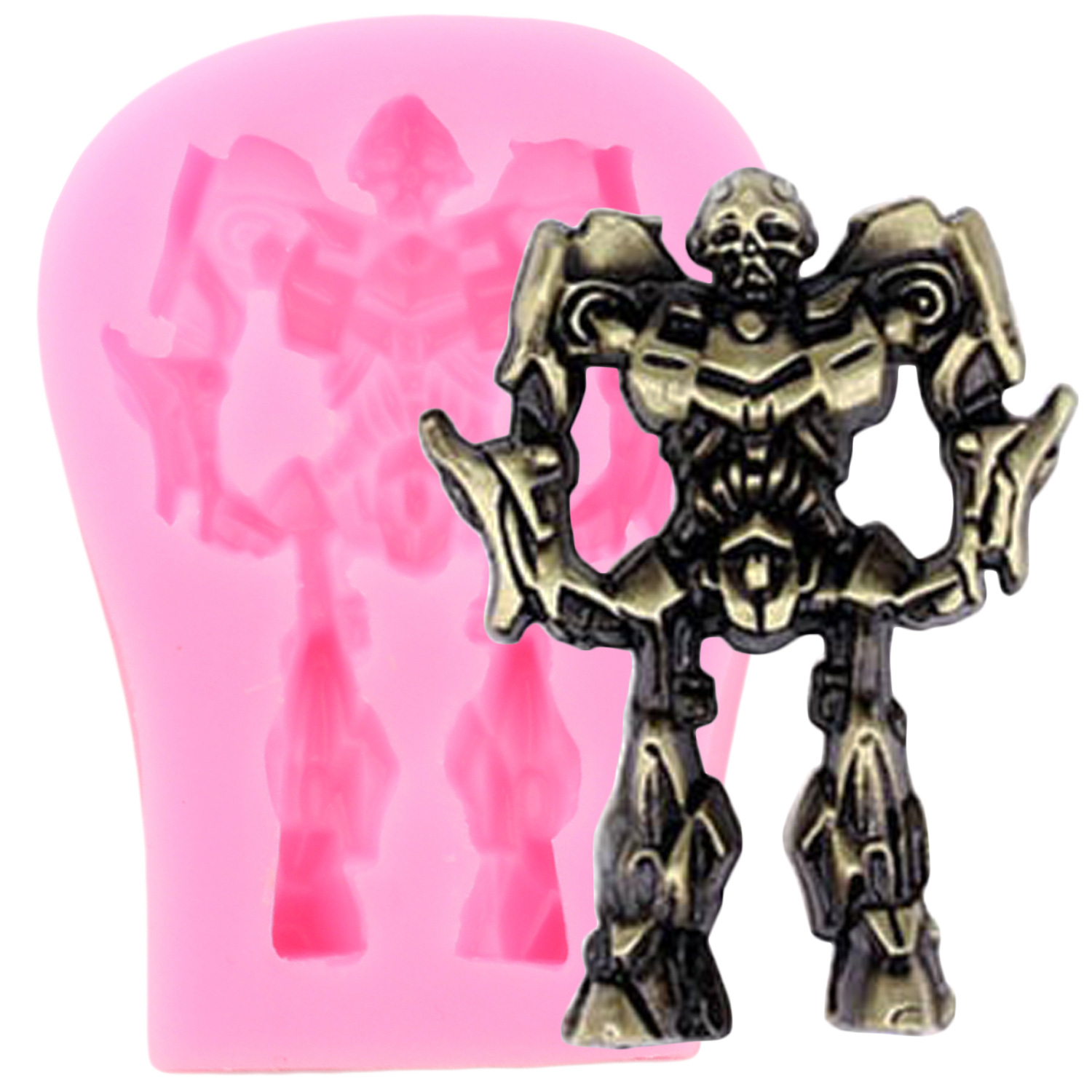 Robot Silicone Mold Baby Birthday Party Cake Decorating Tools Fondant Cookie Baking Chocolate Gumpaste Candy Molds